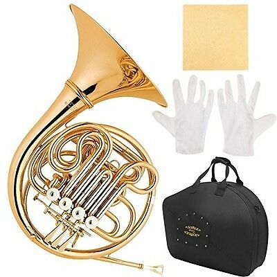 Glory GFH-42 PROFESSIONAL 4(FOUR) Keys of F/Bb DOUBLE French horn with Case New