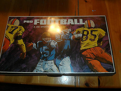 Complete Vintage Board Game PRO FOOTBALL A 3m Sports Game Brand 1966