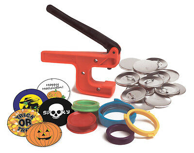 "New!  Badge-A-Minit 2 1/4"" Button Hand Press Starter Kit Halloween #100J"