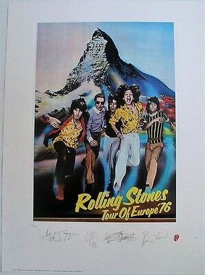 Rolling Stones 1994 Lithograph Concert Poster Plate signed & numbered