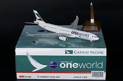 """Cathay Pacific A330-300 Reg:B-HLU """"One World""""  JC Wings 1:200 Diecast     XX2972"""