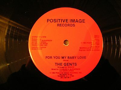 """The Gents - For You My Baby Love - 1984 Modern Soul 12""""  - Mint / Near Mint"""