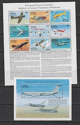 Maldives 1998 aviation airplanes klb+s/s MNH