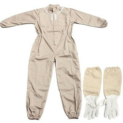 Pure Cotton Beekeeping Suit Bee Suit Heavy Duty Space Suit Leather Ventilated Be