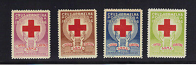 Portugal Red Cross Stamp Set Mint Never Hinged MNH 1946