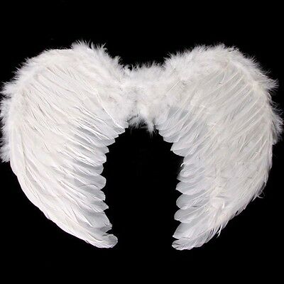 Angel Wings Fancy Dress Fairy Feather Costume Large Adult Party Hen Halloween UK