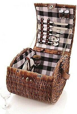 Premier Decorations BA141238 Sandown Fitted Willow Picnic Hamper For 2 Person