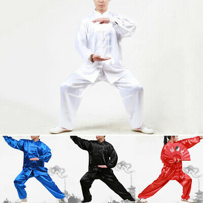 New Unisex Martial Arts Uniform Kung Fu Suit Costume Tai Chi Performance Clothes