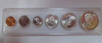 1967 Canada Silver 6-Coin Year Set in Whitman Holder