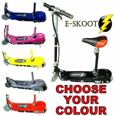 New 120W Electric E Scooter Kids Ride On Battery Toy Adjustable Removable Seat