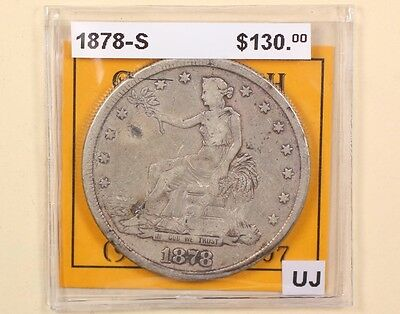 1878 S Seated Liberty Silver Trade Dollar