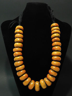 African Berber best tribal jewelry resinAmber like ethnic necklace from Morocco