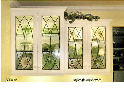 Beautiful Kitchen Cabinet Glass Door Inserts to upgrade existing or new Cabinets