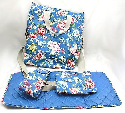 Cath Kidston Fold Over Tote Nappy Bag Baby Changing Rainbow Rose