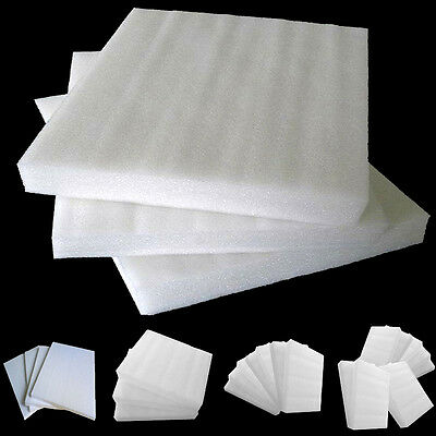 Very White EPE Pearl Foam Boards DIY Crafts S19T 24Pcs Packing Styrofoam Sheets