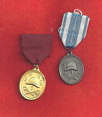 Original German Bavarian  Fire Service 25 & 40 Year Service Medals