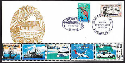 1998 LORD HOWE ISLAND - 1st DAY OF OPERATIONS - No. 243/1000 - COURIER POST