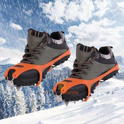 18-teeth Winter Crampons Anti Slip Ice Cleats Spike Gripper Chain Snow Shoe boot