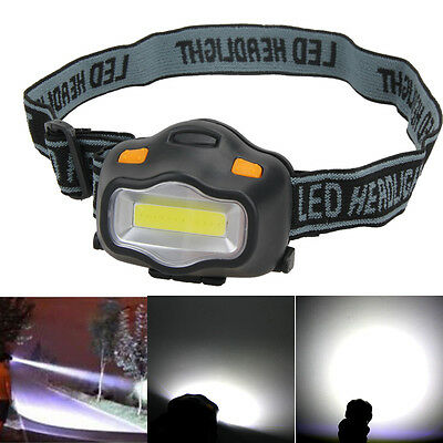 12 COB LED 3 modes Headlight Fishing Camping Riding Outdoor Head Lamp Torch New
