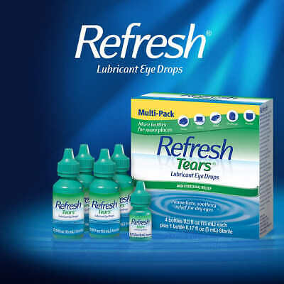 Refresh Tears Lubricant Eye Drops 4 + 1 Bonus Bottle Multi-Pack International