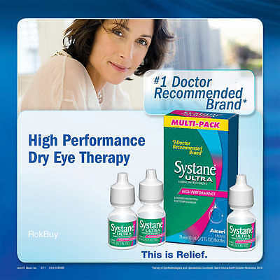 Systane ULTRA Lubricant Eye Drops 3 x 10 ml Bottles - 30 ml Total