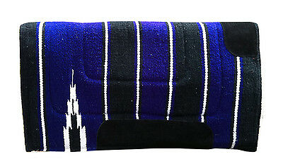 Western Saddle Pad/numnah Pad Cowboy Fleece In Royal Blue 30X30 Size