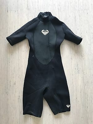 Roxy girls short sleeve spring suit 2mm surfing summer wetsuit, size 16