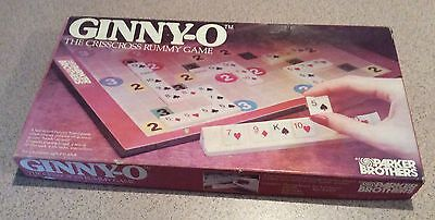 Vintage 1983 Board Game - Ginny-O - The CrissCross Rummy Game - 100% Complete