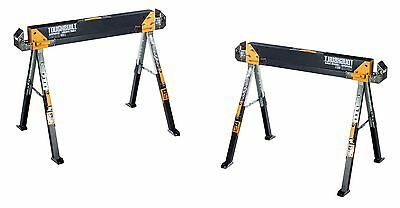 NEW 2-Pack Toughbuilt Steel 32 in. tall Adjustable Folding Sawhorse