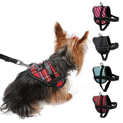 Reflective Service Pet Dog Puppy Harness Vest Coat with Removable Patches