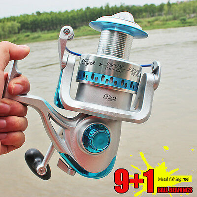 Large Spincasting Bass Trout Fishing Reel Metal Saltwater Freshwater Tackle Reel