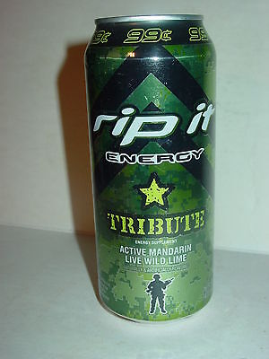 2012 16oz. RIP IT ENERGY  ( TRIBUTE 99CENTS ) BOTTOM OPENED!!