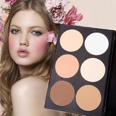Makeup Cosmetics Bronzer & Highlighter Face Powder Concealer 6 Colors