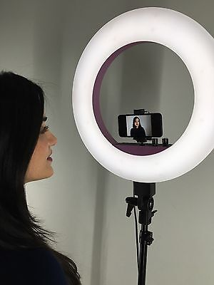 Diva Ring Light  ll  LED  Bundle by Stellar Lighting + FREE  Stand White color