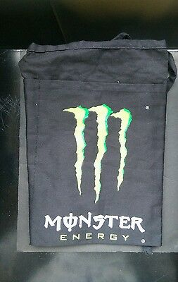 Monster Energy Drink Black & Green 3 pocket Apron ~ NEW ~ FREE SHIPPING