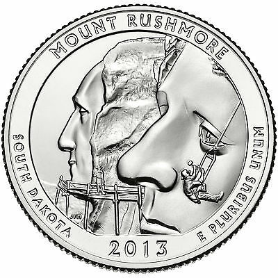 2013 ATB Mount Rushmore National Park Quarter P,D&S 3 coin set