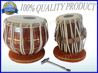 Deal Tabla Drum Pro Brass Bayan Decor Wood Dayan Ring + Hammer + Box Ship Free!