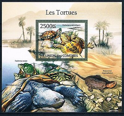 Bloc Sheet Tortues Turtles Neuf MNH ** Comores Comoros 2011