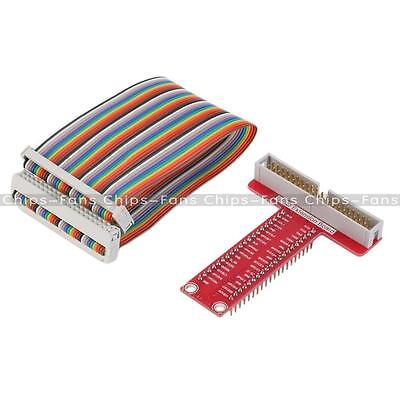 T-Shaped Breakout Expansion Board + 40Pin GPIO Cable for Raspberry Pi B+ Pi 2 CF