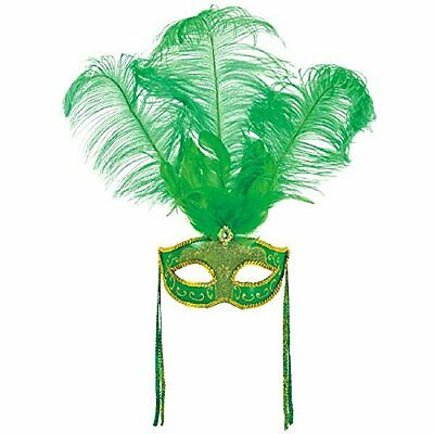 St. Patrick's Day Feather Mask (A365902)