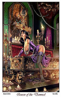 """Tim Vigil Print """"Tanya: Queen of the Damned"""" Gothic Nights"""