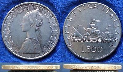 ITALY - silver 500 lire 1965 R KM# 98 Republic (1946-2001) - Edelweiss Coins