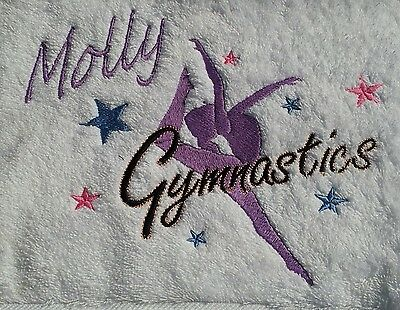 Personalised Gymnastics Towel Available In 10  Colours
