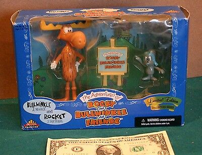 ROCKY and BULLWINKLE Action Figures 1998 Limited Edition in box