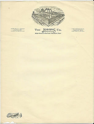 Letterhead Fremont Ohio The Jeavons Co. Spring Covers Harley Loney *unsused*