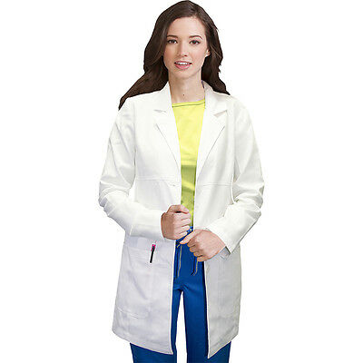 """Vivi by Med Couture Women's Chic Empire Seam 33"""" Lab Coat Style 5601"""