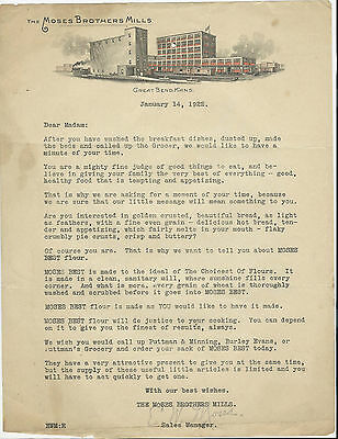 1922 Letterhead Great Bend Kansas The Moses Brothers Mills