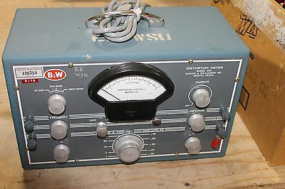 B&W MODEL 400 DISTORTION METER Barker & Williamson