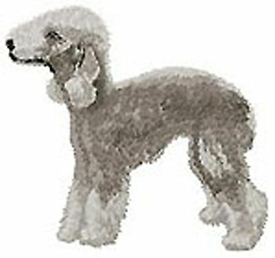 Bedlington Terrier Portrait full body  Embroidery Patch Auction