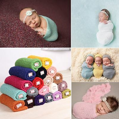 Padding Newborn Photo Cloths Stretch Knit Wrap Baby Blanket Photography Props